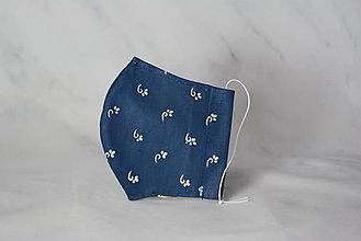 Rúška - Modrotlačové rúško 2-vrstvové junior - 12326327_