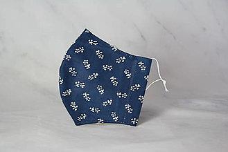 Rúška - Modrotlačové rúško 2-vrstvové junior - 12326348_