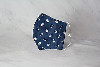 Rúška - Modrotlačové rúško 2-vrstvové junior - 12326352_