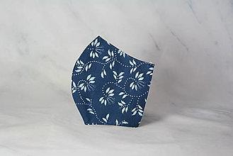 Rúška - Modrotlačové rúško 2-vrstvové junior - 12326353_