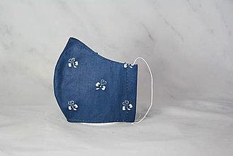 Rúška - Modrotlačové rúško 2-vrstvové detské - 12326360_