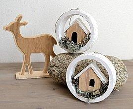 Dekorácie - Vianočné ozdoby-Domček v zimnej krajine - 12326893_