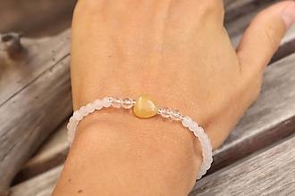 Náramky - Tenký náramok z minerálu jadeit, krištáľ, achát - 12326721_