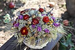 Aranžmán zo sušených kvetín