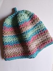 Detské čiapky - Detska bavlnena čiapočka - 12330680_