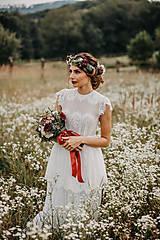 Šaty - Svadobné šaty z elastickej krajky s holým chrbátom - 12329262_