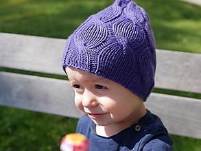 """Detské čiapky - Pletená čiapka """"osmičková"""" - 12330011_"""