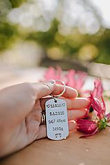 Kľúčenky - Prívesok na kľúče s vlastným textom - 12332079_