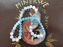 Náhrdelníky - Náhrdelník angelit, jadeit,ruženín. - 12332332_