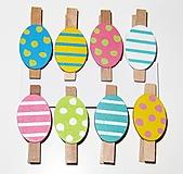 Polotovary - Veľkonočné štipce vajíčka - sada 8 kusov - 12333336_