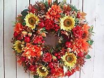 Dekorácie - Veľký jesenný veniec na dvere ...keď končí leto... - 12332756_