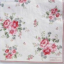 Papier - Servítka  G 118- Elouise White Large-novinka! - 12333574_