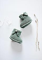 Detské topánky - Papučky pre bábätko - chlapčeka (Jedľová - dĺžka: 10 cm) - 12333032_