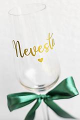 Papiernictvo - Nevesta & Ženích - nálepka na svadobný pohár - 12332490_