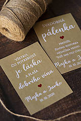 Etikety na svadobné víno/pálenku - hnedá