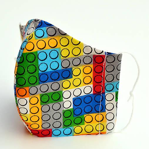LEGO ~ dizajnové rúško 5 veľkostí ~ antibakteriálne dvojité na filter