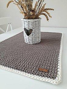 Úžitkový textil - Háčkovaný obrus&behúň - 12331828_