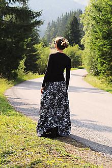 "Sukne - Maxi ""Čierno-biely mramor"" - 12333773_"