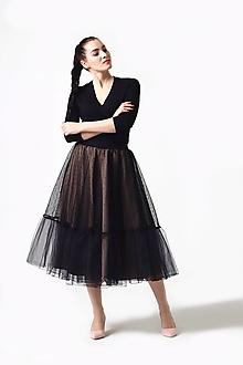 Sukne - Tylová sukňa Midi s bodkami - 12336792_