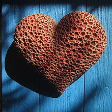 Dekorácie - Srdce červenohnědé - 12335646_