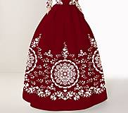 """Sukne - FLORAL FOLK """" Slovenská ornamentika """", spoločenská sukňa - 12335413_"""