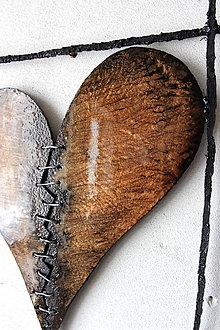 Dekorácie - Heart III Brown MMXX  PREDANÉ - 12336399_