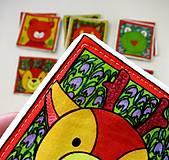 Hračky - Textilné pexeso  (Zvieratká z lesnej tône) - 12335653_