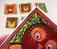 Hračky - Textilné pexeso  (Zvieratká z lesnej tône) - 12335658_