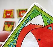 Hračky - Textilné pexeso  (Zvieratká z lesnej tône) - 12335660_