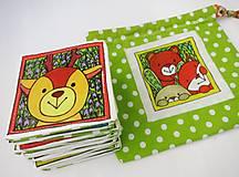 Hračky - Textilné pexeso  (Zvieratká z lesnej tône) - 12335661_