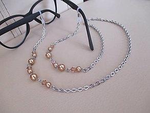 Iné šperky - Swarovski - retiazka na okuliare - chirurgická oceľ - 12336916_