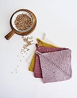 Úžitkový textil - Chňapka EXTRA hrubá - ružová/horčicová - 12335963_