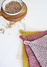 Úžitkový textil - Chňapka EXTRA hrubá - ružová/horčicová - 12335965_