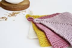 Úžitkový textil - Chňapka EXTRA hrubá - ružová/horčicová - 12335966_