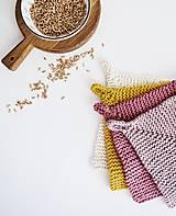 Úžitkový textil - Chňapka EXTRA hrubá - ružová/horčicová - 12335967_