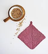 Úžitkový textil - Chňapka EXTRA hrubá - ružová/horčicová - 12335974_