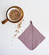 Úžitkový textil - Chňapka EXTRA hrubá - ružová/horčicová - 12335980_