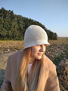 Čiapky - Háčkovaný klobúk na leto - 12336782_