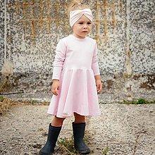 Detské oblečenie - Šaty light pink dlhý rukáv - 12337161_