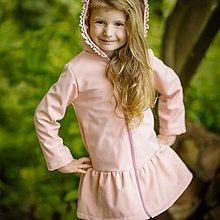 Detské oblečenie - Detská softshell bunda s volánmi - pink - 12337248_