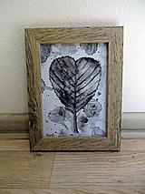 Láska listu - čiernobiela