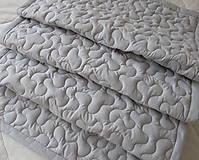 Úžitkový textil - Šedá zástena so šedými vlny - 12334856_