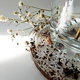 Pomôcky - Podšálka kruhová - čajové 'terazzo' ružové - 12334532_