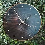 Hodiny - Ebony Oak - dubové drevené hodiny - 12336549_