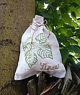 "Úžitkový textil - ľanové vrecko na bylinky ""Lipa"" - 12334113_"