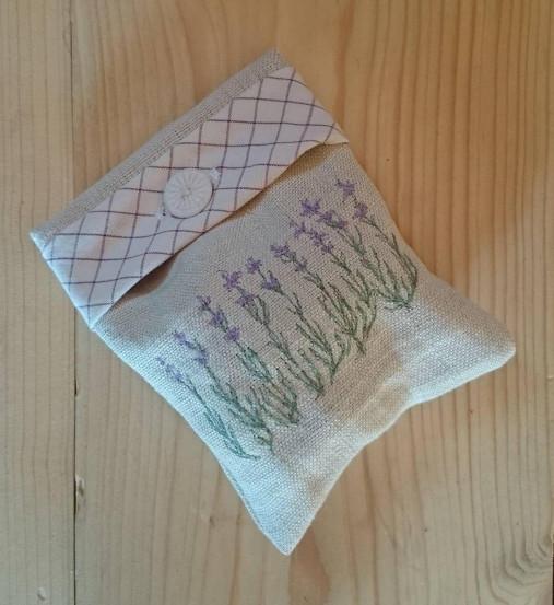 vrecúško z ručne tkaného ľanového plátna