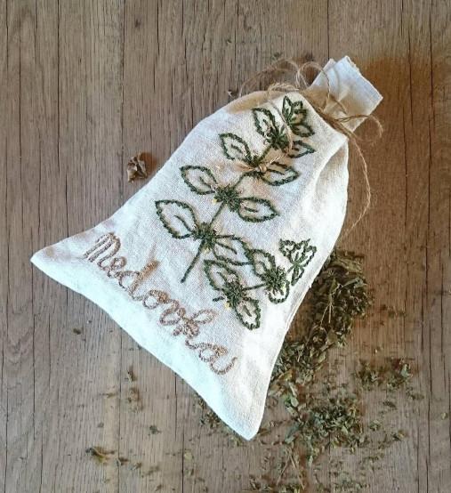 ľanové vrecko na bylinky