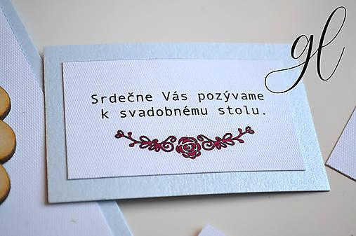 Svadobné tlačoviny kytica modrá (pozvánka)