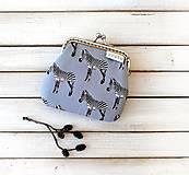 Peňaženky - Peňaženka mini Zebry šedé - 12334204_