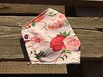 Rúška - rúško dvojvrstvové -ruže - 12336151_